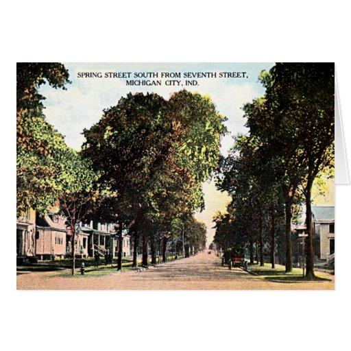 Opinión 1912 de la calle de Indiana de la ciudad Tarjeta De Felicitación