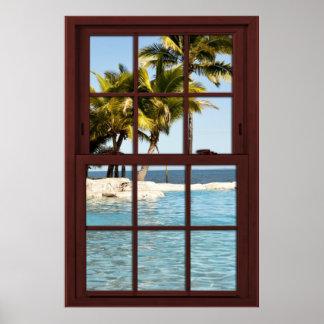 Opinión #2 de las Islas Fiji De la ilusión de la Póster