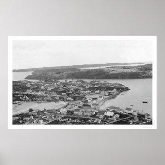 Opinión aérea 1920 de Alaska del Kodiak Impresiones