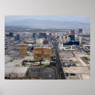 Opinión aérea 2009 de la tira de Las Vegas Poster