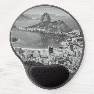 Opinión aérea de B&W Río de Janeiro Alfombrillas De Ratón Con Gel