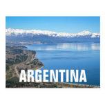 Opinión aérea de Bariloche en invierno Postal