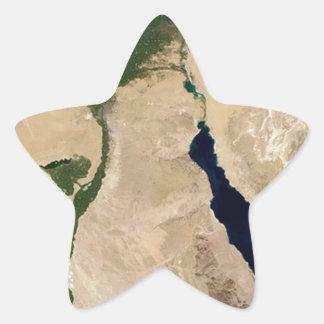 Opinión aérea de Egipto Pegatinas Forma De Estrella
