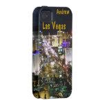 Opinión aérea de la noche de la tira de Las Vegas Vibe iPhone 4 Carcasa