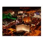 Opinión aérea de Las Vegas de un dirigible no rígi Tarjeta Postal