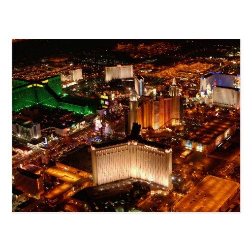 Opinión aérea de Las Vegas de un dirigible no Tarjeta Postal