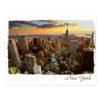 Opinión aérea de Nueva York Tarjeta Postal