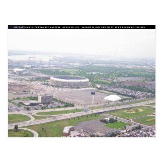 Opinión aérea del Veterans Stadium del PA de Tarjetas Postales