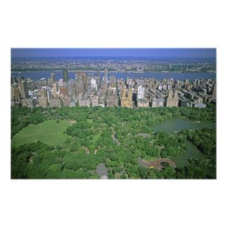 Opinión aérea el Central Park y el lado oeste Fotografías