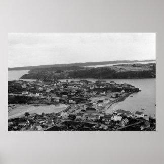 Opinión aérea el Kodiak, fotografía de Alaska Impresiones