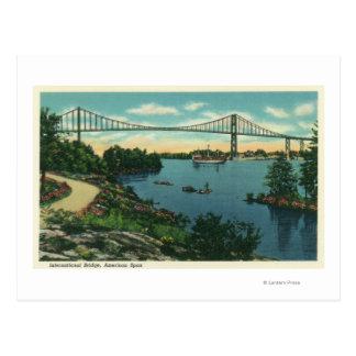 Opinión americana del palmo del puente internacion tarjetas postales