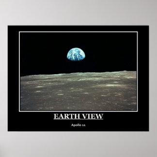 Opinión Apolo 11 de la tierra Póster