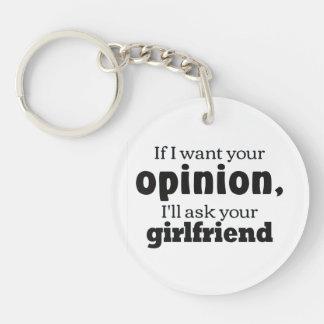 Opinion ask girlfriend bf Single-Sided round acrylic keychain