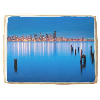 Opinión azul de la hora de Seattle céntrica