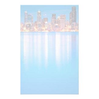 Opinión azul de la hora de Seattle céntrica Papeleria De Diseño