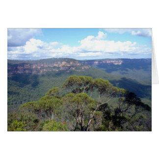 opinión azul del canto de las montañas tarjeta de felicitación