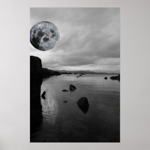 opinión blanco y negro de la noche de kerry póster