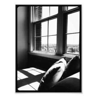 Opinión blanco y negro del desván arte fotográfico