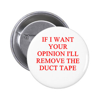 opinion pinback buttons