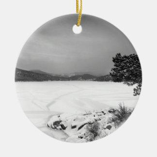 Opinión BW del invierno del depósito de Nederland Ornamento De Reyes Magos