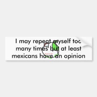 Opinion Car Bumper Sticker