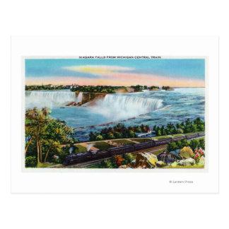 Opinión central del tren de Michigan de Niagara Tarjetas Postales