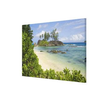 Opinión costera sobre la isla de Mahe Lona Estirada Galerías