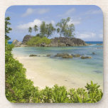 Opinión costera sobre la isla de Mahe Posavasos De Bebida
