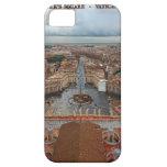 Opinión cuadrada de la Ciudad del Vaticano - St Pe iPhone 5 Case-Mate Carcasa