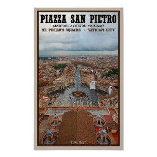 Opinión cuadrada de la Ciudad del Vaticano - St Pe Poster