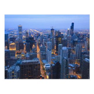 Opinión de alto ángulo de Chicago que mira del sur Tarjeta Postal