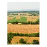 Opinión de alto ángulo de un campo, provincia de tarjetas postales