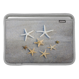 Opinión de alto ángulo una estrella de mar en la p fundas para macbook air
