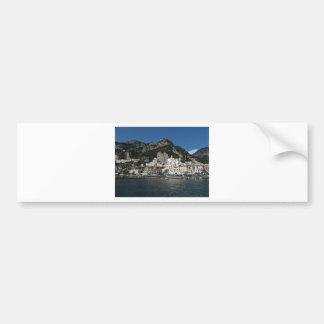 Opinión de Amalfi, mar Pegatina Para Auto