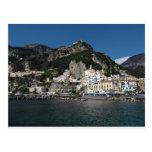 Opinión de Amalfi, mar Postal