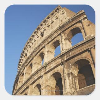 Opinión de ángulo bajo de Colosseum Pegatina Cuadrada