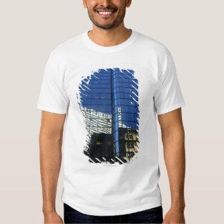 Opinión de ángulo bajo de la reflexión de camisas
