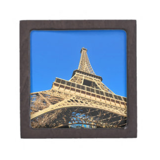 Opinión de ángulo bajo de la torre Eiffel contra e Cajas De Regalo De Calidad