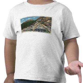 Opinión de aparcamiento de la cumbre camisetas
