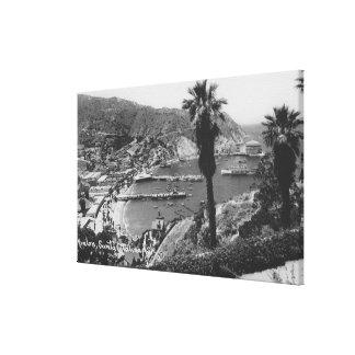 Opinión de Avalon, isla de CA Santa Catalina del p Lona Envuelta Para Galerías