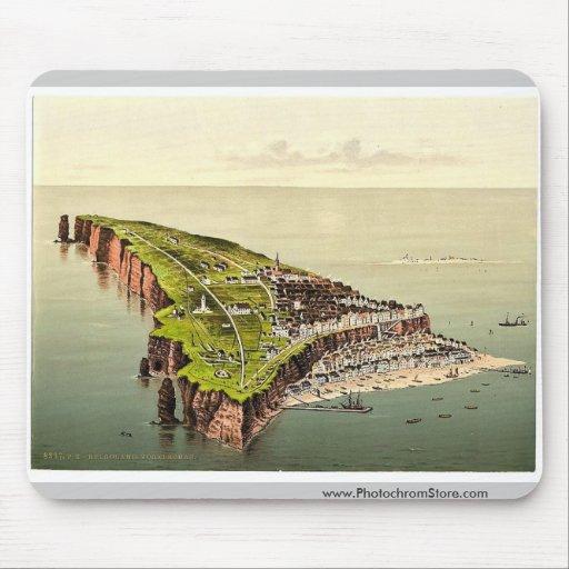 Opinión de Birdseye, Helgoland, Alemania Photochro Tapete De Ratones