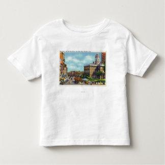 Opinión de calle principal de la calle del estado t-shirt