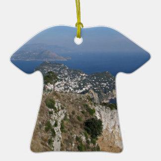 Opinión de Capri de la isla con Faraglioni en la p Ornamente De Reyes