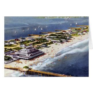 Opinión de Carolina del Norte Birdseye de la playa Tarjetas