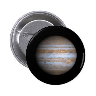Opinión de Cassini de la NASA de Júpiter Pin Redondo 5 Cm