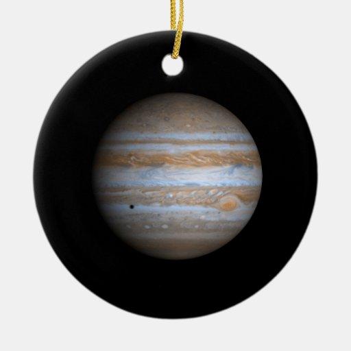 Opinión de Cassini de la NASA de Júpiter Adorno Redondo De Cerámica