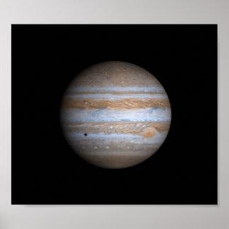 Opinión de Cassini de la NASA de Júpiter Póster