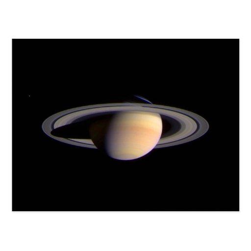Opinión de Cassini de la NASA del espacio de Tarjeta Postal