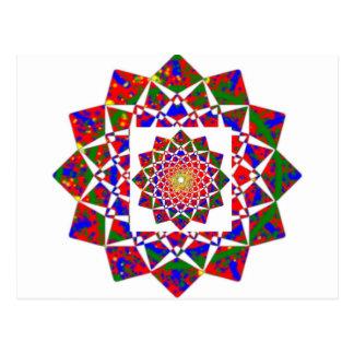 OPINIÓN DE CHAKRA: Formación geométrica artística Tarjetas Postales