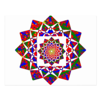 OPINIÓN DE CHAKRA: Formación geométrica artística Tarjeta Postal